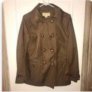 VGUC Michael Kors brown hoodie rain coat